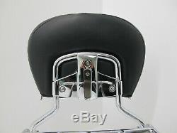 Harley Davidson Touring OEM Passenger Sissy Bar Backrest withLuggage Rack 97-08