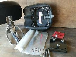 Harley Deuce Short Passenger Sissy Bar Backrest Seat & Luggage Rack with Hardware
