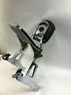 Harley Dyna fxdl fxd detachable sissy bar passenger back rest rack pad