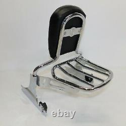 Harley OEM Softail Breakout r Sissy Bar Passenger Backrest With Rack Chrome