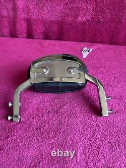 Harley Short Backrest Chrome Upright Dyna Sportster Detachable Sissy Bar Fxr Oem