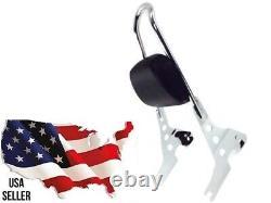 Harley Sportster Backrest Sissy Bar Pad Superlow Low Iron XL 883 Xl883 Custom Hd