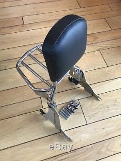 Harley Sportster Detachable Back Rest Backrest & Rear Carrier Sissy Bar Sissybar