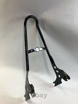 Harley black sportster tall round detachable sissy bar passenger backrest