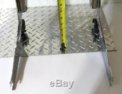 Harley-davidson Chrome Quick Detach Detachable Back Rest Sissy Bar Luggage Rack