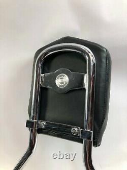 Harley softail FLSTF FXST detachable sissybar passenger back rest round up right