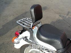 Harley softail deluxe detachable quick release sissy bar backrest & luggage rack