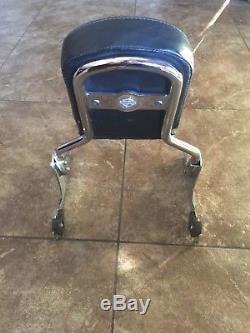 Harley softail detachable sissy bar backrest fatboy custom nighttrain 06+ fxst