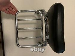 Harley softail sissy bar detachable With Backrest Pad And Luggage Rack