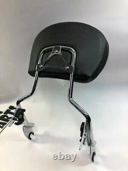 Harley touring 09-up tall large pad detachable sissy bar back rest passenger