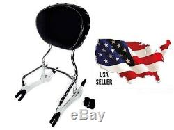 Indian Back Rest 2880833-156 Sissy Bar Studded Pad 2879666-02 Chieftan Chieftain
