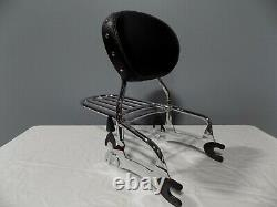 Indian Backrest Sissy Bar Pad Luggage Rack For Touring Chief Classic 2014-2018