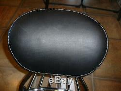 Indian OEM passenger sissy bar backrest pad rack Chieftain Roadmaster Springfiel