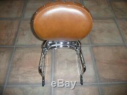 Indian OEM passenger sissy bar backrest tan pad rack Chief Classic Vintage Dark
