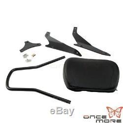 Leather Detachable Backrest Sissybar Sissy Bar FOR Suzuki Boulevard M109R 06-14