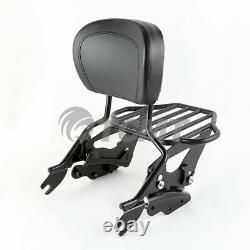 Luggage Rack Sissy Bar Backrest Docking Fit For Harley Touring Road Glide 09-13