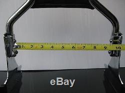 MWL-167-06B 2UP backrest detachable Black Sissybar carrier