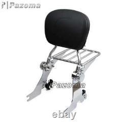 Motorcycle Chrome Sissy Bar Passenger Backrest For Harley Sportster XL 1200 883