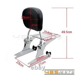 Motorcycle Detachable Sissy Bar Backrest & Luggage Rack For Harley Softail 00-05