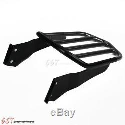 Motorcycle Detachable Sissybar Backrest withLuggage Rack For Harley Dyna 2006-Up