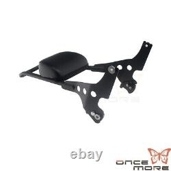 Motorcycle Rear Backrest Sissy Bar WithPad Black for Harley Forty Eight XL1200X