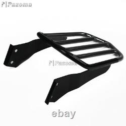 Motorcycle Sissy Bar Passenger Backrest withLuggage Rack For Harley Dyna 06-Later