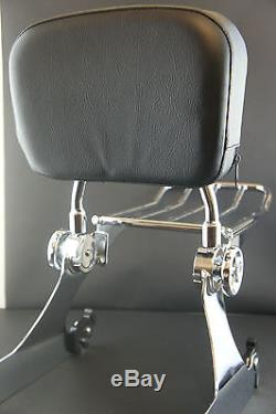 NEW Detachable Backrest Sissy Bar for Dyna 02-05 Harley Davidson