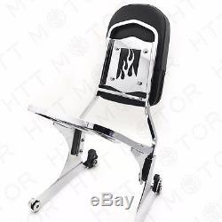 NEW Detachable Sissy Bar Backrest & Luggage Rack for Harley FATBOY Softail FLSTN