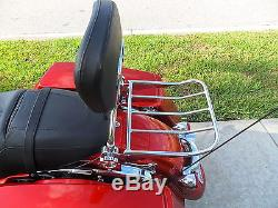 New Detachable Backrest Sissy bar Upright For Harley Davidson Touring 09UP