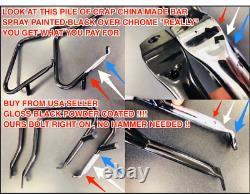 New Lower Harley Hd Quick Release Dyna Backrest Sissybar Super Wide Glide 06-17