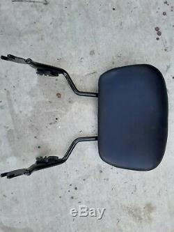 OEM 09-18 Genuine Harley Touring Passenger Sissy Bar Backrest With Pad rear