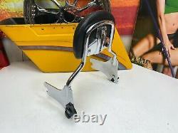 OEM 97-08 Harley CVO Touring Genuine Leather Pad Sissy Bar Backrest Short