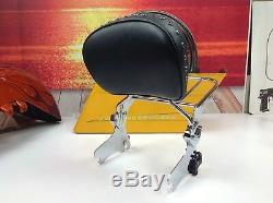 OEM 97-08 Harley CVO Touring Street Glide Passenger Sissy Bar Backrest & Rack