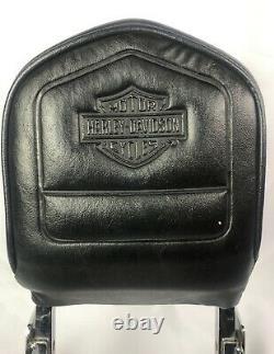 OEM Detachable Harley Davidson Sissy Bar Backrest & Pad With Luggage Rack