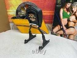 OEM Genuine Harley Softail Detachable Black Sissy Bar Passenger Backrest