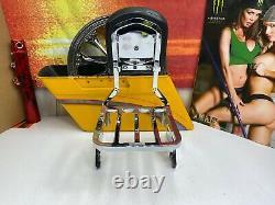 OEM Harley 04-20 Detachable Sportster Sissy Bar Passenger Backrest WithRack