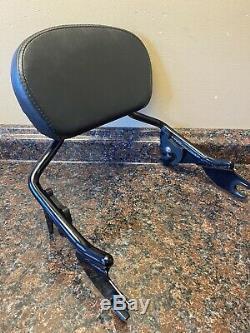 OEM Harley 09-20 Touring Short Detachables Backrest Gloss Black Sissy Bar Glide