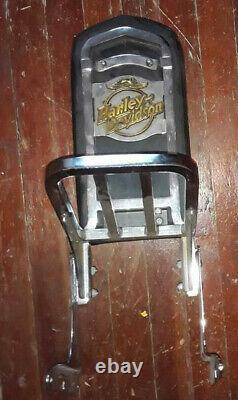 OEM Harley 1991-2003 Detachable Sportster Sissy Bar Passenger Backrest WithRack