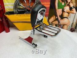 OEM Harley Softail Short Detachable Sissy Bar Passenger Backrest Rack