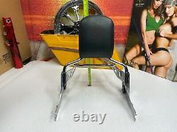 OEM Harley Softail breakout 09 Springer Sissy Bar Passenger Backrest & Rack