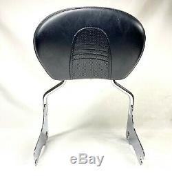 OEM Harley Touring Sissy Bar Passenger Backrest Pad Quick Disconnect Detachable