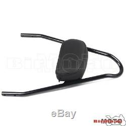 Passenger Backrest Sissy Bar Black Luggage Rack For Harley Softail FatBoy 05-UP
