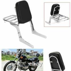 Passenger Backrest Sissy Bar Luggage Rack Cushion Pad For Honda Rebel250 CMX250