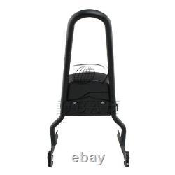 Passenger Backrest Sissy Bar Pad Black For Harley Softail 06-17 Fatboy 2007-2017