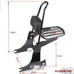 Passenger Backrest Sissy Bar Rear Luggage Rack For Harley Sportster XL 1994-2003