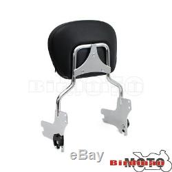 Passenger Detachable Backrest Sissy Bar Luggage Rack For Harley Road King 97-08