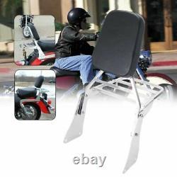 Passenger Sissy Bar Backrest Pad Luggage For Kawasaki Rack Vulcan 96-2008 VN1500