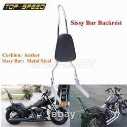 Passenger Sissy Bar Backrest Set For Harley Softail Street Bob FXBB FLDE FLHC