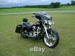 Passenger Skull Sissy Bar Backrest For Harley Touring Electra Glide FLHT 97 08