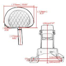 Plug-in Sissy Bar Driver Backrest For Indian Chief Chieftain Roadmaster 2014-up